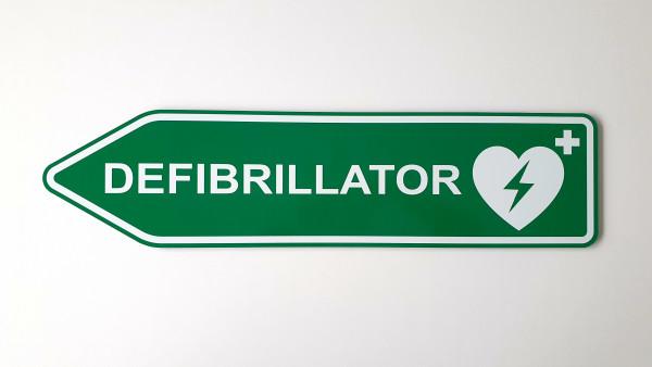 """Defibrillator Richtungsschild """"Links"""""""