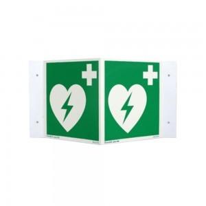 AED Hinweis-Dreieck