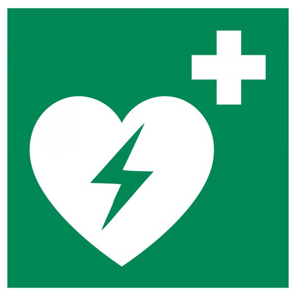 AED Hinweis-Kleber - Nachleuchtend