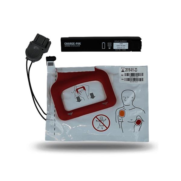 LIFEPAK CHARGE-PAK Set L (Batterie + Elektroden) für CR Plus / Express